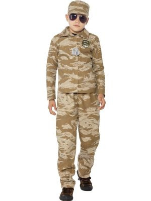Boys Fancy Dress | Army Desert Camouflage Costume